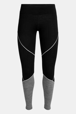 Icebreaker Womens 200 Oasis Deluxe Legging Tights Black/Gritstone Heather