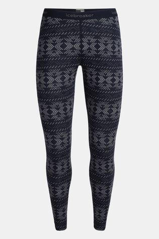 Icebreaker Womens 250 Vertex Crystalline Leggings Midnight Navy