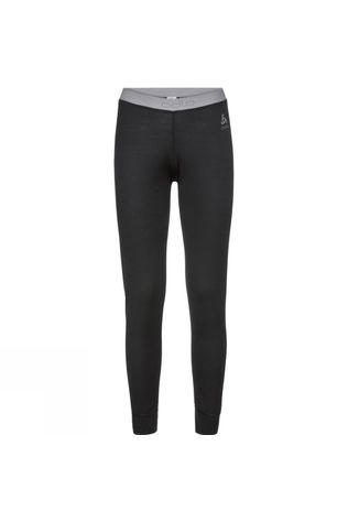 Odlo Womens Natural 100% Merino Warm Base Layer Pants Black