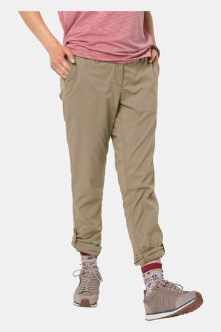 Jack Wolfskin Womens Desert Roll-Up Pants Sand Dune