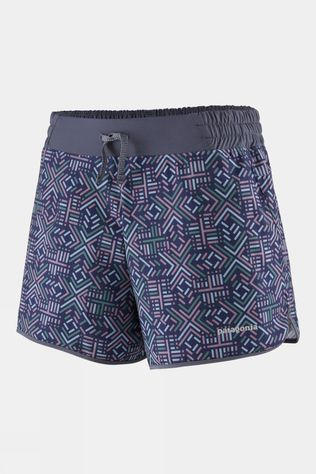"Patagonia Womens Nine Trails 6"" Short Star Dash: Classic Navy"