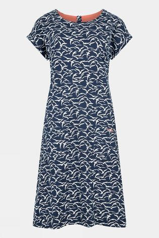 Weird Fish Womens Tallahassee Dress Dark Navy