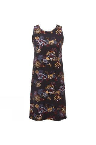 Sherpa Padma Dress Black Print