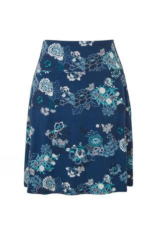 Sherpa Padma Pull-On Skirt Neelo Blue Print