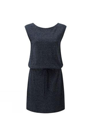 Tentree Womens Icefall Dress Dark Ocean Blue/Elm White stripe