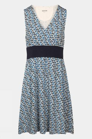 Ayacucho Womens Lamu Dress  Navy Triangle Print
