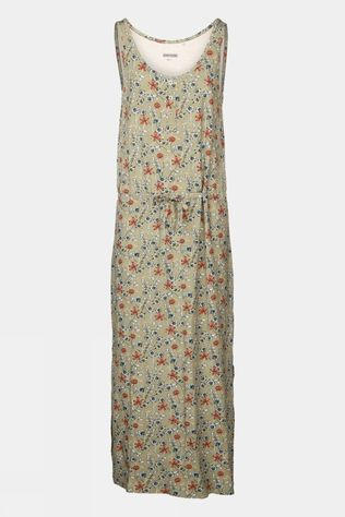 Ayacucho Womens Zanzibar Maxi Dress Green Floral Print