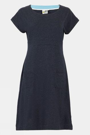 Weird Fish Womens Viola Dress Navy