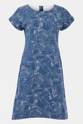 Weird Fish Womens Tallahassee Organic Printed Dress Ensign Blue