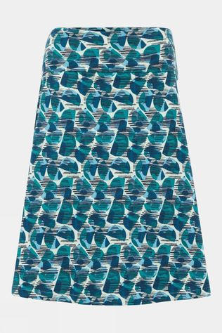 Weird Fish Womens Malmo Organic Printed Skirt Bottle Green
