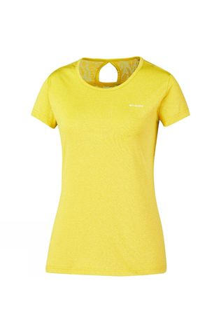 Columbia Womens Peak to Point Novelty Short Sleeve Shirt Buttercup
