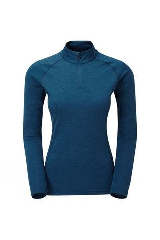 Montane Womens Dart Zip Neck T-Shirt Narwhal Blue