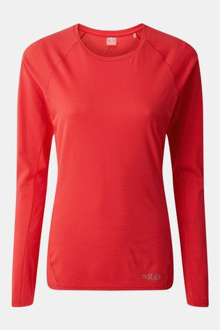 Rab Womens Force LS Tee Geranium