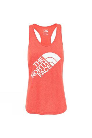 The North Face Womens MA Graphic Play Hard Tank Juicy Red Heather/TNF White