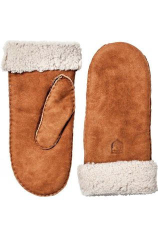 Hestra Womens Sheepskin Mitt Tan