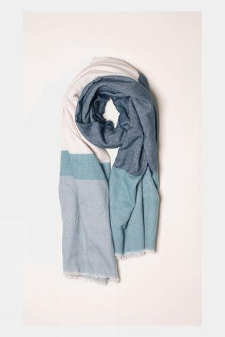 Brakeburn Womens Colour Block Blanket Scarf Blue