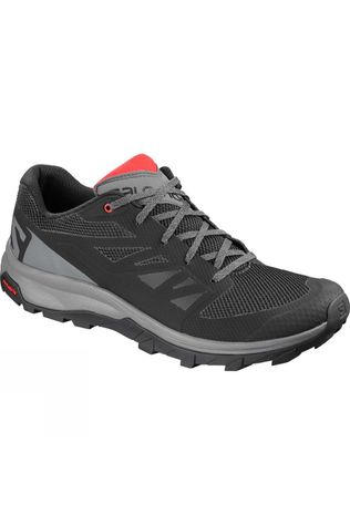 Salomon Mens Outline Shoe Black/Quiet Shade/High Risk Red