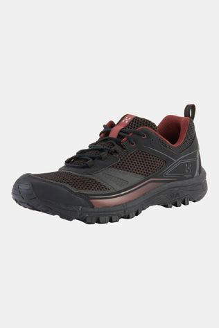 Haglofs Mens Gram Trail Shoe True black/maroon red