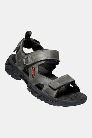 Keen Mens Targhee III Open Toe Sandal Grey/Black