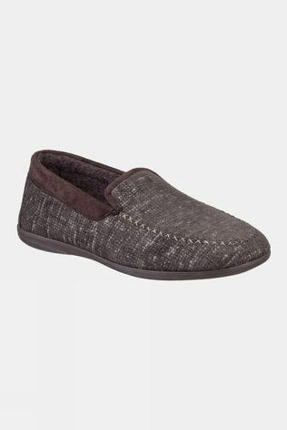 Cotswold Stanley Loafer Slipper Brown