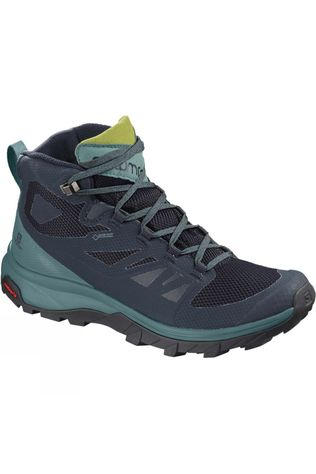 Salomon Womens Outline Mid GTX Boot Navy Blazer/Hydro/Guacamole