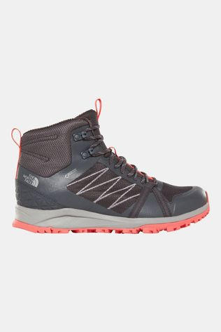 The North Face Womens Litewave Fastpack II Mid GTX Boot Ebony Grey/Fiesta Red