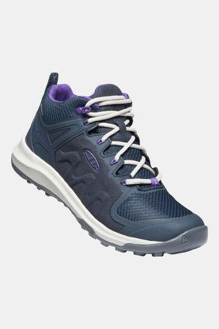 Keen Womens Explore Mid Waterproof Boot Blue Nights/Silver Birch