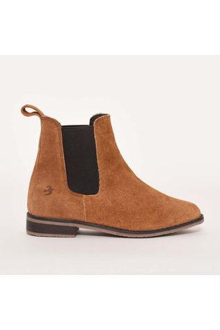 Brakeburn Chelsea Suede Leather Boot Tan