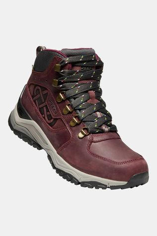 Keen Womens Innate Leather Mid Waterproof Boot Burgundy/Shark