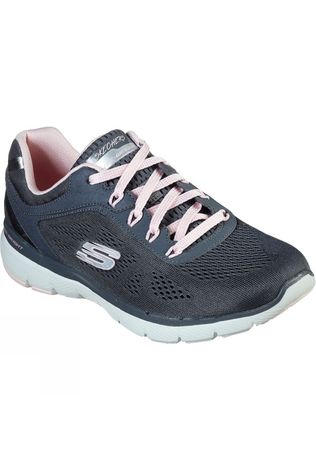 Skechers Womens Flex Appeal 3.0 Shoe Grey/Light Pink