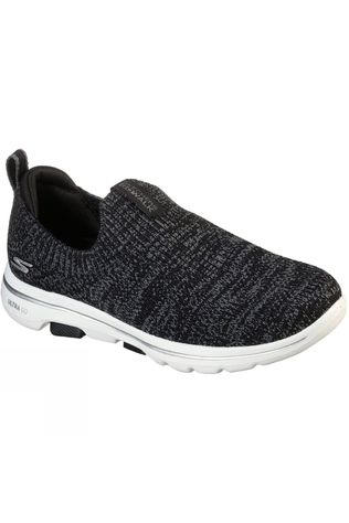 Skechers Womens GoWalk 5 Trendy Slip On Shoe Black/Grey
