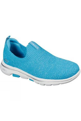 Skechers Womens GoWalk 5 Trendy Slip On Shoe Turquoise