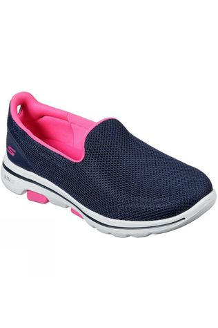 Skechers Womens GoWalk 5 Fantasy Slip On Shoe Navy/Hot Pink