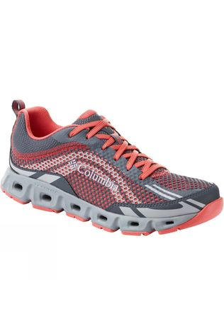 Columbia Womens Drainmaker IV Shoe Graphite, Red Coral