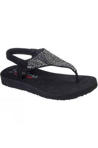 Skechers Womens Meditation New Moon Slip On Sandal Black