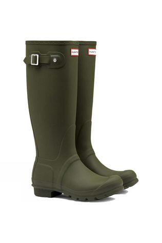 Hunter Womens Hunter Original Tall Wellington Boots Dark Olive