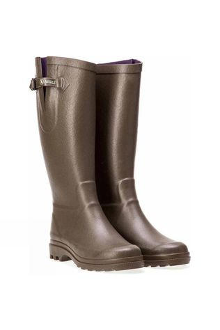 Aigle Womens Aiglentine Welly Khaki Green