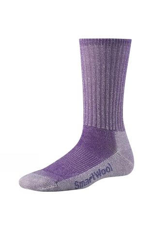 SmartWool Womens Hike Light Crew Socks Grape