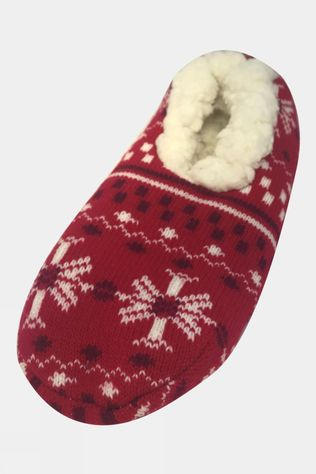 Yaktrax Womens YT Snowflake Slippers Blizzard Lychee