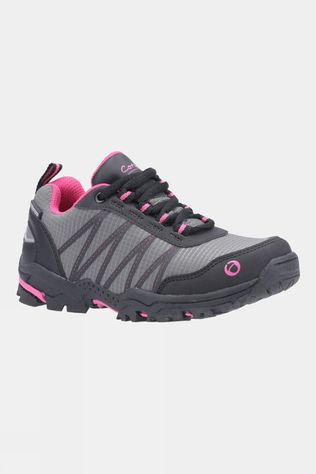Cotswold Kids Littledean Lace Up Hiking Boot Pink/Grey