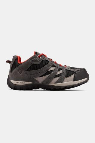 Columbia Youths Redmond Waterproof Shoe Black/ Flame