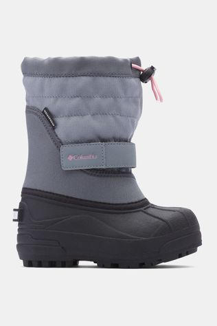 Columbia Kids Powderbug Plus II Boot Grey Ash/ Rosewater