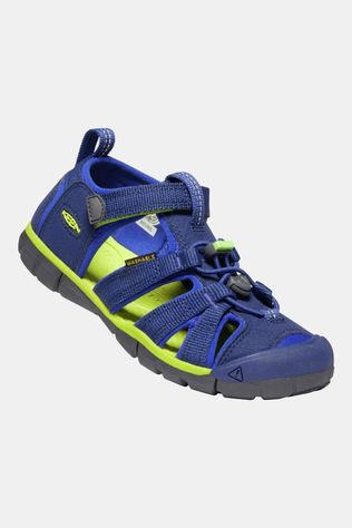 Keen Youth Seacamp II CNX Sandal Blue Depths/Chartreuse