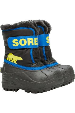 Sorel Toddler Snow Commander Boot Black, Super Blue