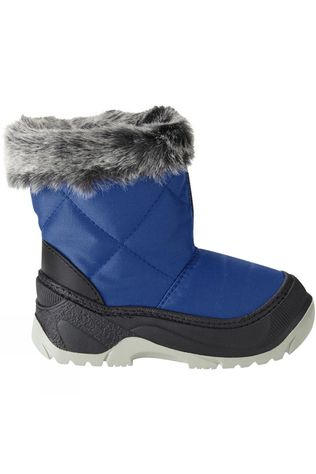 Calzat Children's Zip Snow Boot Royal Blue/Silver