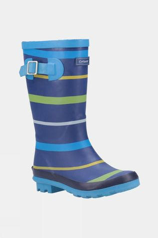 Cotswold Mens Stripe Wellington Boot Blue/Green/Yellow