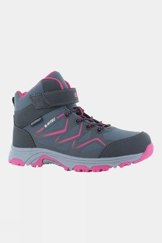 Hi-Tec Kids Trio EZ WP Boot Mid Grey/Dark Grey/Fuschia