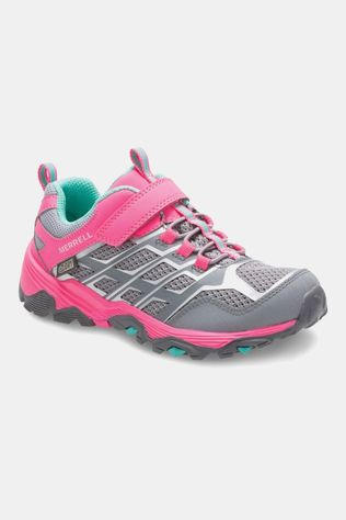 Merrell Girls Moab FST Low Waterproof Shoe Grey/Coral