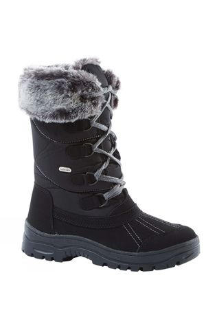Girls Fur Trim Traction Boot
