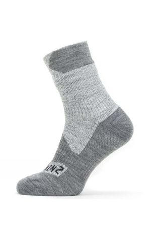 SealSkinz All Weather Ankle Length Sock Grey/Grey Marl
